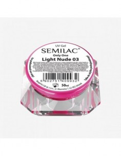 Gel constructor 03 SEMILAC UV GEL ONLY ONE LIGHT NUDE 50 ML