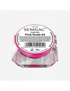 Gel constructor 04 SEMILAC UV GEL ONLY ONE PINK NUDE 50 ML