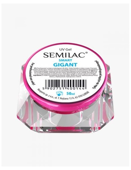 Gel constructor Semilac UV Gel Smart Gigant 50 ml