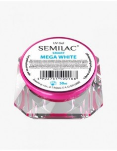 Gel constructor Semilac UV Gel Smart Mega White 50 ml