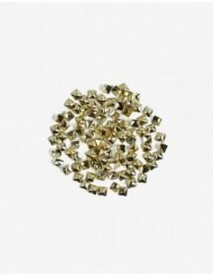 772 Decoraciones Semilac Gold BIg Squares 100 unidades