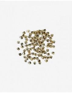 762 Decoraciones Semilac Gold Small Squares 100 unidades