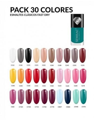 Pack 30 Colores Esmalte Clásico Fast Dry