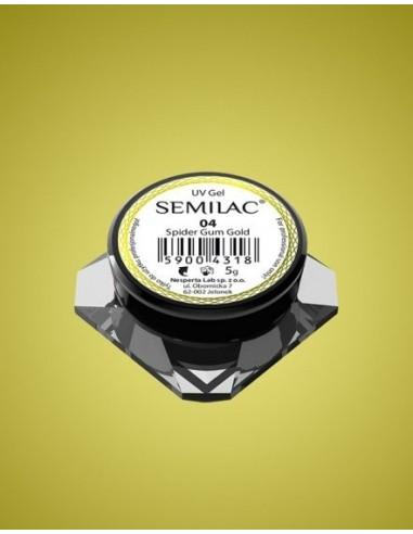 Semilac Gel para Decoraciones Spiders Gum 04 Gold