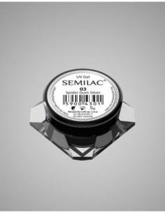 Semilac Gel para Decoraciones Spiders Gum 03 Silver