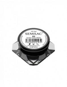 Semilac Gel para Decoraciones Spiders Gum 02 White
