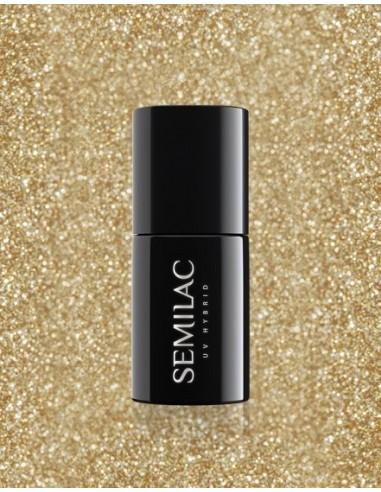 260 Esmalte semipermanente Semilac Platinum Light Gold 7ml