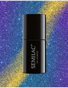 310 Esmalte semipermanente Semilac MAGIC CAT EYE Blue 7ml